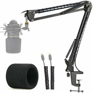 MXL 770 990 Support Microphone Professionnel Réglable avec Bonnette Micro et Tube de Fixation Compatible avec Microphone à Condensateur MXL 770 990 par YOUSHARES
