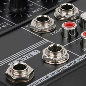Oreilet Console de mixage sonore pour, Console Musicale 4 canaux Table de mixage 4 canaux avec USB avec fantôme réseau pour Microphone à condensateur Alimentation directe pour