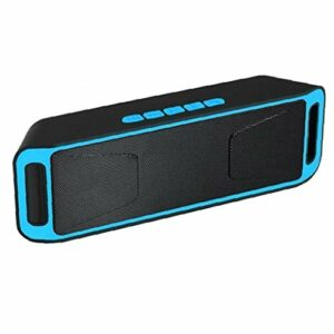 Parleur sans fil Bluetooth audio Haut-parleur BassUp Amplificateur stéréo Subwoofer extérieur Portable BASSES SC208 Radio TF USB bleu