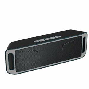 Parleur sans fil Bluetooth audio Haut-parleur BassUp Amplificateur stéréo Subwoofer extérieur Portable BASSES SC208 Radio TF USB Gris