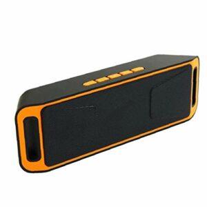Parleur sans fil Bluetooth audio Haut-parleur BassUp Amplificateur stéréo Subwoofer extérieur Portable BASSES SC208 Radio TF USB orange