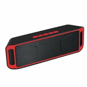 Parleur sans fil Bluetooth audio Haut-parleur BassUp Amplificateur stéréo Subwoofer extérieur Portable BASSES SC208 Radio TF USB rouge