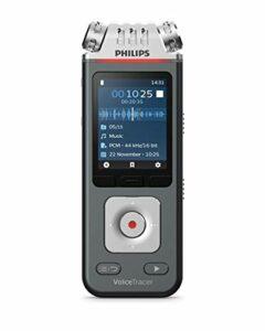 Philips Enregistreur Voicetracer audio pour La Musique, Cours, Conférences, et Interviews – Qualité D'Enregistrement de 24 bits/96 Khz – DVT6110