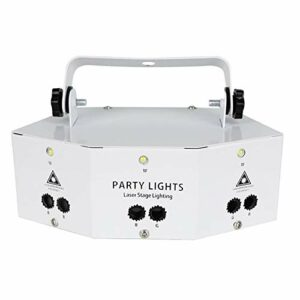 Professional Nine Eye Strobe Light, Party Light DJ Disco Lights, Light Effect, Stage Lighting, Party Light Decoration with Remote Control for Dance, Christmas, Gift, KTV Bar, Birthday,White
