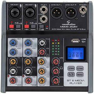 SOUNDSATION MIOMIX 202M Mixeur professionnel à 4 canaux avec Bluetooth