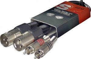Stagg STC060CMXM Câble Double m. XLR/m – 60cm