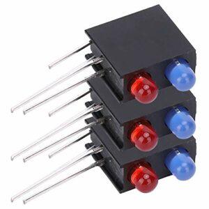 Support de lumière LED incurvé à 90 degrés de 3 mm en plastique haut de gamme avec lumière bleue et rouge