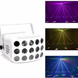 SZ&LAM Disco Lights, LED À Trois Couches Papillon Coloré Lumières pour Les Enfants Anniversaire, Réunion De Famille, Fête De Noël Accueil Christmas Karaoke DJ Club