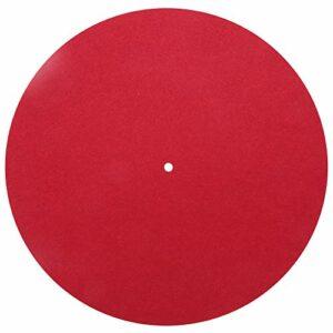 Tapis de platine vinyle Ladieshow Slipmat Audiophile laine rouge haute qualité Anti-Vibration antistatique phonographe tourne-disque accessoires 30cm