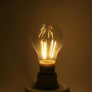 Tomanbery Ampoule LED Transparente E27, Ampoule LED PC, Protection de l'environnement en Plastique de qualité(Warm White, 4W)