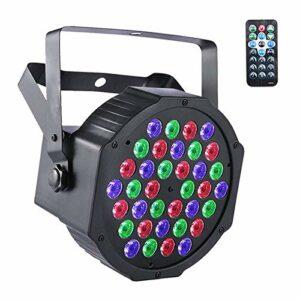 UKing Projecteur LED DMX – 36 LED RVB – Avec télécommande – Projecteur LED – Effets de lumière pour DJ, discothèque, club