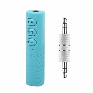 Uzinb Lavalier Voiture Mains Libres Bluetooth Mini AUX Récepteur Audio 4.1 HD Appel de Remplacement Adaptateur