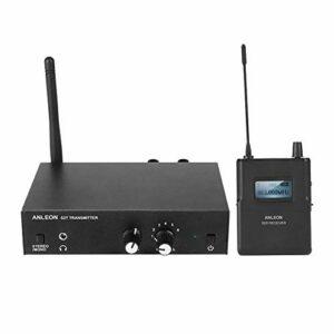 VBESTLIFE Système de Surveillance Stéréo sans Fil, Système Intra-auriculaire 863-865MHZ 100-240V Convient pour Les salles Multi-salles, Les Mariages, Les DJ Mobiles etc(EU)