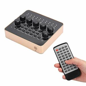 Wosune Carte Son de téléphone Portable, matériel ABS de Carte Son avec Cinq Types d'effets sonores pour la Maison pour la Salle de Jeux