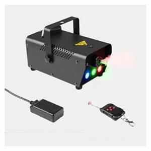 WYOY Couleurs De Brouillard 7 Couleurs Télécommande sans Fil Réglable avec LED Light 450W pour Mariage, Fête, Bar, Vacances Et Effet De Scène