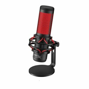 XZJJZ pour Microphone de Jeu électronique Professionnel Ordinateur Sports Microphone en Direct Dispositif de Microphone Rouge