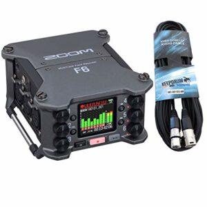 Zoom F6 Enregistreur de champ multirack + câble microphone Keepdrum XLR 6 m