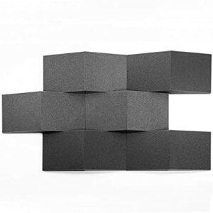 AcousPanel Mousse Acoustique Panneaux format cale 30X30x8 cm, 12 unités, couleur gris anthracite.