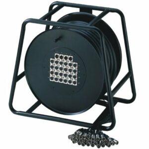 Adam Hall Cables K20C50D Câble multipaire sur enrouleur avec boîtier de scène 16/4 50 m