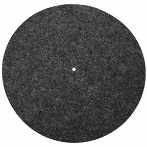Aeloa Tapis de Plateau – Tapis de Plateau tournant 12″Anti-Vibration Audiophile Pad avec 12 pour lecteurs de disques Vinyle(Noir)
