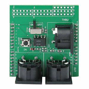 Agatige Carte de Blindage MIDI, 3 connecteurs MIDI Femelles à Angle Droit avec en-têtes de Broches d'extension pour Adaptateur d'interface