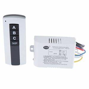 Amuzocity 1 PCS Interrupteur de Lumière émetteur Module de Télécommande pour Lampe Domestique – 3 voies