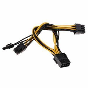 baoblaze 1x cartes graphiques Adaptateur de câble 8broches vers PCIe 2x 6+ 2broches PCI Express câble d'alimentation Câble d'alimentation pour le raccordement à la vidéo à cartes