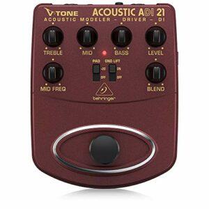 Behringer V-Tone Acoustic Driver / DI ADI21 Modéliseur d'ampli pour instrument acoustique / préampli pour l'enregistrement direct / boîte d'injection