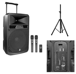 Bootone DJ Pack Mobile 15 UHF – Sono portable sur batterie d'une puissance de 350W + Pied