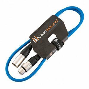 Câble Micro XLR mâle à femelle/Équilibré/Câble patch micro / 7 couleurs 1m Bleu