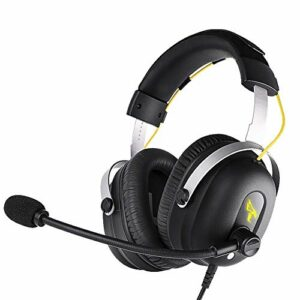 Casque sans fil stéréo de l'oreille haut de gamme, temps de jeu avec basse profonde, cache-oreillettes de la mémoire molle-protéine, mode câblé micro intégré PC / Téléphones portables / TV (Couleur: N