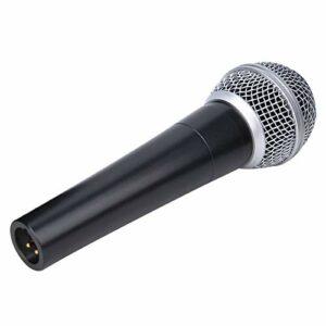 Clasken Microphone dynamique, microphone filaire avec réponse à haute fréquence, facile à utiliser avec câble de connexion de 5 mètres pour aucune protection contre les collisions.