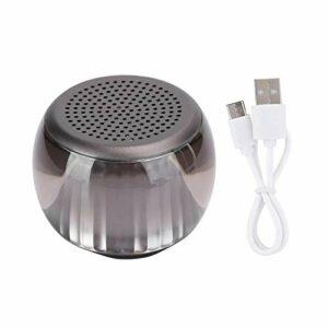 DAUERHAFT Haut-Parleur Audio de Poche Haut-Parleur Portable de Grande capacité Bluetooth V5.0 Durable, avec câble d'alimentation