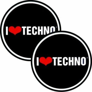 Disque de feutrine Factory I Love Techno Slipmat Lot de 2