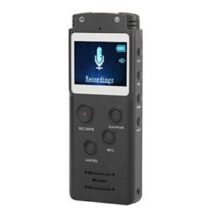 Enregistreur Audio stéréo à Double Microphone intégré Interface Universelle USB2.0 Enregistreur Vocal numérique Professionnel Portable, Prise en Charge de la Carte TF Externe de 64 Go