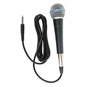 freneci Microphone de Karaoké Dynamique pour La Fête de Mariage Micro Vocal Tenu dans La Main pour La Scène