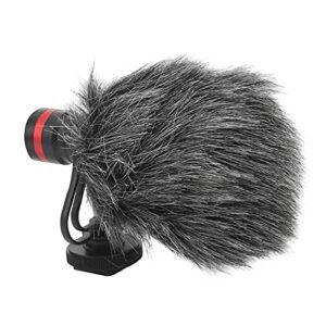 Gaeirt Mini Microphone, Microphone pour Appareil Photo léger avec Trou de vis 1/4 po Éponge intégrée pour téléphone pour Appareil Photo Reflex numérique pour Diffusion en Direct