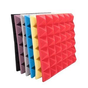 GAOAIHONG Mousse Acoustique Haute Densité Panneaux Insonorisants Pyramide Tuiles De Panneau Mural D'insonorisation 50x50x5cm 10pcs(Color:Noir)