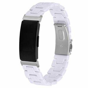 GhrKwiew Inspire 2 Bands Replacement, Fashion Bracelet en résine de Remplacement Boucle en Acier Inoxydable Bandes de Remplacement Accessoires pour Fitbit Inspire 2 (L01)