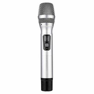 Haut-parleur stéréo sans fil dynamique avec récepteur micro UHF pour karaoké Aluminium pour karaoké KTV