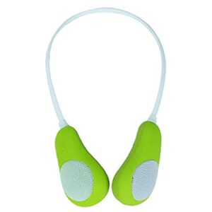 Haut-parleurs sans fil Neckband Wearable Sweatproof Surround Haut-parleur vert