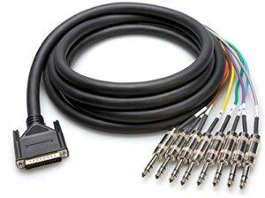 Hosa DTP-803 Serpent DB25A vers TRS 3 m Multicolore
