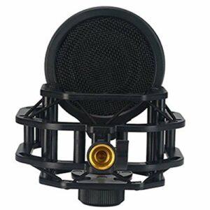 JYDQB Support de Microphone de Studio d'enregistrement Support de Choc pour Support de Micro à condensateur d'ordinateur Support de Montage en métal