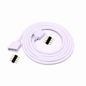 LitaElek Câble d'extension 5m Connecteur ruban LED à 4 broches RGB rallonge flexible de bande de LED pour SMD 5050 3528 2835 RGB LED Strip Ruban LED Bande LED (5m, 1pc)