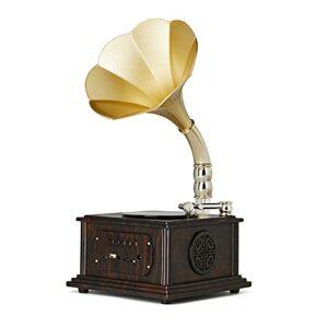 LJFZMD Tourne-Disque, Platine Vinyle Bluetooth avec Haut-Parleurs Intégrés Et Lecteur De Disque Phonographe Vintage À Entraînement par Courroie USB pour Le Divertissement,C