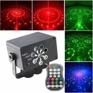 Lumières disco – Projecteur – Mini lumières de fête avec câble d'alimentation USB de 2 m – Lumière stroboscopique avec télécommande – Réunion de famille, fête de Noël – Alimentée par USB