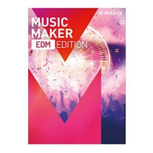 MAGIX Music Maker – EDM Edition – Production et mixage de musique électronique en toute simplicité avec notre logiciel musical [Téléchargement]