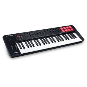 M-Audio Oxygen 49 V – Clavier maître / clavier MIDI USB 49 touches de piano avec pads, modes Smart Chord & Scale, arpégiateur et logiciels inclus