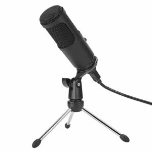 Microphone à Condensateur, Microphone à Condensateur USB à Grand Diaphragme, Réception Haute Sensibilité, Diffusion en Direct, Enregistrement par Ordinateur, Microphone de Studio, pour Enregistrement,