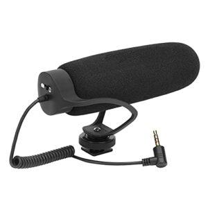 Microphone de caméra, microphone de réduction de bruit cardioïde pour téléphone reflex numérique MIC08 pour smartphones/caméscopes, ultra-léger et durable